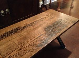 Making wood look old