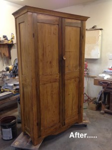 1800's wardrobe restored