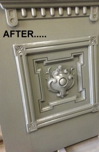 After picture of painted front door.