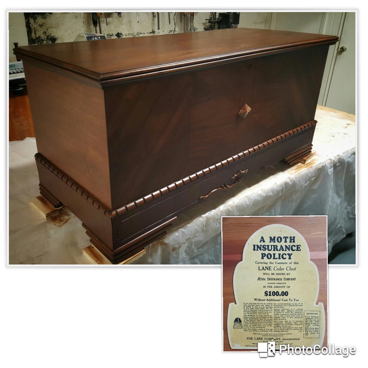 Lane cedar chest restoration